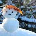 写真: 初雪だるま