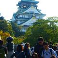 多くの観光客@大阪城極楽橋