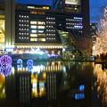 Photos: 大阪駅とシャンパンゴールド イルミネーション