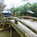 写真: 境内の中で最も古い桁橋@嘉永橋