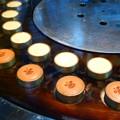 機械で焼かれるおまんじゅう@菊川商店