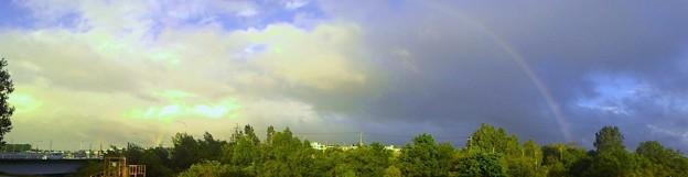 パノラマ 虹