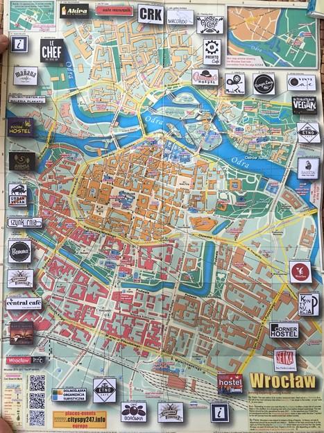 ブロツワフ 市街地図