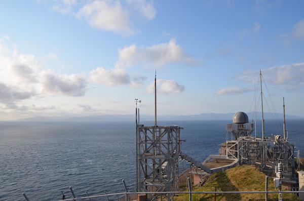 竜飛岬から北海道もはっきり見える