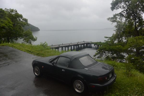 発荷峠を降りて十和田湖へ