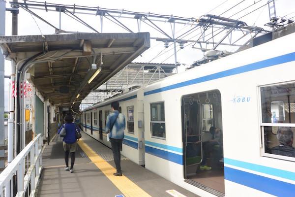 偶然に青が揃った東武鉄道の駅