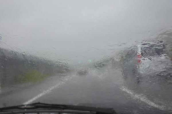青森市内では豪雨に遭遇するも