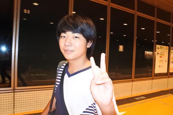 下校後に大阪から移動してきた次男と9時過ぎに合流
