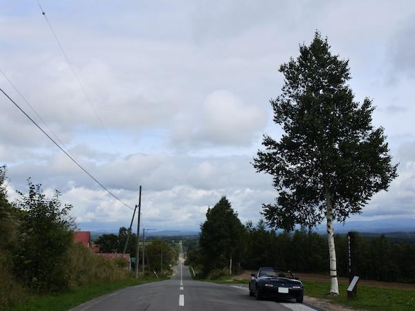 ジェットコースターの道を通って美瑛から富良野へ移動