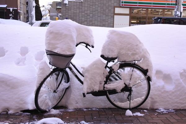 12月の札幌では50年振りの大雪