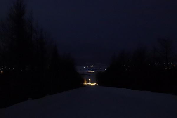 夜のパノラマロード江花 かみふらの八景