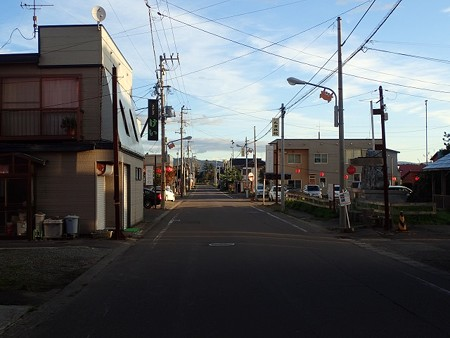 北海道 長万部温泉 町並み