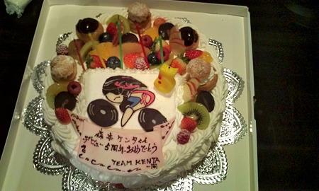 ケンタ5周年記念のお祝いケーキ