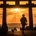 宮地浜の夕陽♪