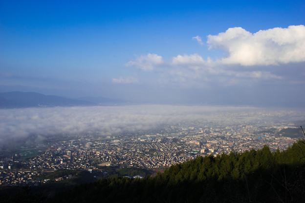 写真: 我が街の雲海♪