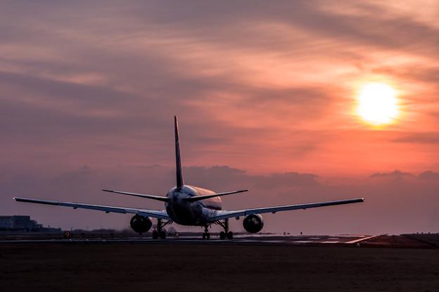 熊本空港夕景♪2