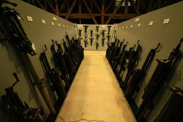 39 日鉱記念館 鉱山資料館  さく岩機コレクション