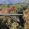 28.10.27鳴子峡・大深沢橋を望む