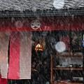 雪降る馬籠