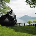 洞爺湖畔と彫刻
