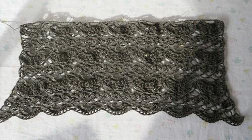 かぎ針編み後ろ身頃2
