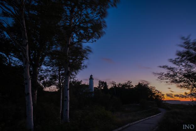 写真: Point Iroquois Light Station