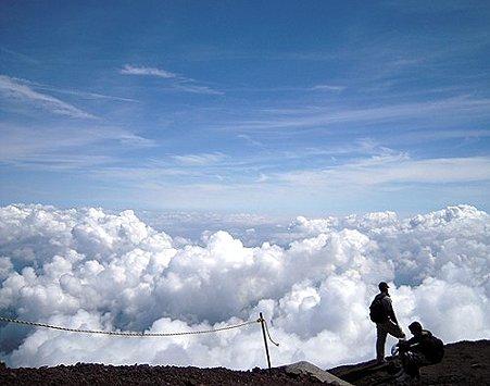 初めての富士登山 憧れの雲海